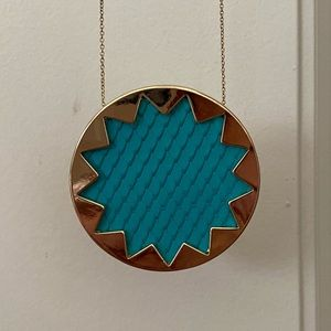 House of Harlow 1960 Big Blue Pendant Necklace